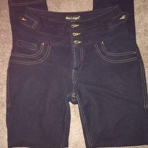 Jeans - 👖 🌸 Dark Blue High Waisted Skinny's